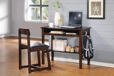 VESTER Espresso Finish  Desk & Chair Set