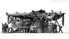 artstation drawing sketch fantasy jae jang ok medieval environment perspective