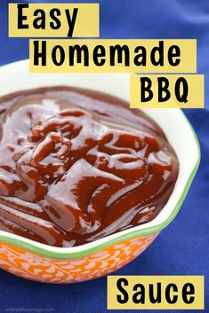 A homemade BBQ sauce recipe with brown sugar and ketchup that's not only delicious, it's also easy to make. You'll never go back to store-bought BBQ sauce