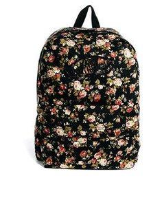 b31a6190fe5d9 Vans Realm Floral Backpack Mochilas Hermosas