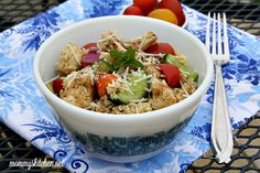 Mommy's Kitchen - Recipes From my Texas Kitchen!: Couscous Salad with Grilled Chicken: A quick and easy couscous salad with grilled chicken, fresh veggies, and locally grown tomatoes tossed in a light balsamic dressing. #salad #dinnersalad #dinner #tomatoes #chicken #locallygrown #wmtmoms #spon