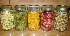 Zdravé domácí sušené ovoce