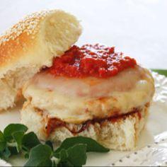 Chicken parm burger from skinnytaste.com