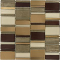 "Sheet size: 11 3/4"" x 11 3/4"" Tile Size: 1/4"" x 2 3/4"", 7/8"" x 2 3/4"" & 1 5/8"" x 2 3/4"" Tiles per sheet: 56 Tile thickness: 1/4"" Grout Joints: 1/8"" Sheet Mount: Mesh Backed Sold by the sheet"