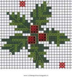Christmas holly and berries cross stitch. Cross Stitch Christmas Cards, Xmas Cross Stitch, Cross Stitch Cards, Modern Cross Stitch, Cross Stitch Designs, Cross Stitching, Cross Stitch Embroidery, Cross Stitch Patterns, Cross Stitch Freebies