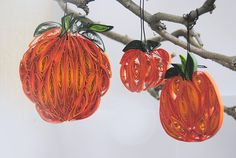 Set of 3 Quilled Halloween Pumpkin ornaments Paper Pumpkin Paper Pumpkin, Halloween Pumpkins, Christmas Ornaments, Unique Jewelry, Holiday Decor, Handmade Gifts, Etsy, Vintage, Home Decor