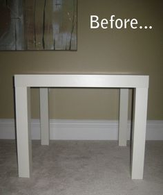 Ikea table turned ottoman. I need to try this with my table!
