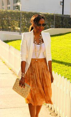 NuSophisticate: Pleated Skirt + Structured Jacket