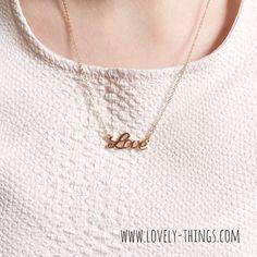 Love Kette / Necklace ♡ // www.lovely-things.com #lovelythingscom