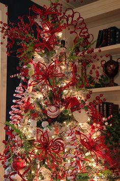 red lime green Christmas tree