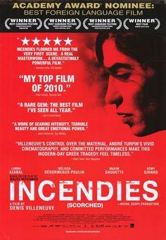 Ganadora de 7 Premios Genie; Mejor Actriz, Director y Película Canadiense en el Festival de Vancouver; Nominada al Oscar 2011 de Mejor Película no Anglófona.