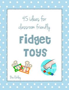Great free PDF eBook with Fidget Toy Ideas for home, OTs or the classroom.  On the website someone commented about printing it out and putting in her office for parents, another great idea.  It would be worth even paying for- a simple, illustrated booklet to enable you to really make great sensory bins, boxes or bags. Pinned by @Gail Zahtz