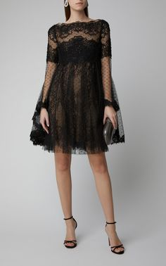 Point D'Espirit Tulle and Lace Mini Dress by MARCHESA Now Available on Moda Operandi Source by emilymaule dress lace Pretty Dresses, Beautiful Dresses, Marchesa Fashion, Dress Outfits, Fashion Dresses, Tulle Gown, Silk Mini Dress, Dream Dress, The Dress