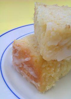 Lemon Drizzle Tray Bake Cake... I like lemons a lot ok...