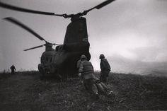 © David Douglas Duncan 1968  US Marines carry a wounded comrade, Khe Sanh, Vietnam