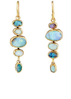 Solid Yellow Gold White Opal Gemstone Dangle Earrings, Dainty Opal Gemstones Earrings, Bridal Handmade Wedding Jewelry Gift for Brides, Graduation Gift – Fine Jewelry & Collectibles Opal Earrings, Opal Jewelry, Fine Jewelry, Drop Earrings, Jewlery, Jewelry Bracelets, Beautiful Earrings, Women's Accessories, Jewelry Design