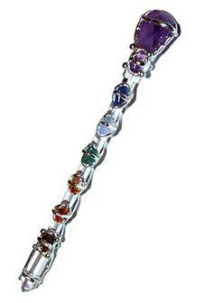 Wand - Seeds of Light Chakra Medium Crystal Wand from WitchcraftShoppe.co.uk in Warwickshire, UK