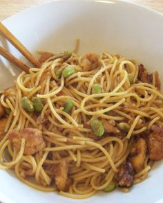 Quick & Easy Chicken and Edamame Asian  Noodles