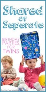 A Birthday Party For Twins: Shared Or Separate?
