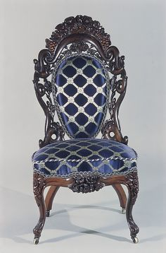 Side Chair  Date: 1850–60 Geography: Mid-Atlantic, New York City, New York, United States Culture: American Medium: Rosewood, ash