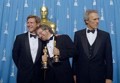 Steven Spielberg, al centro, con Harrison Ford e Clint Eastwood