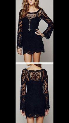 black lace/boho dress ☯ ♡