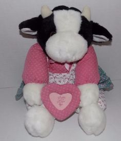 "16"" MTY INTERNATIONAL Plush Floral Dress COW Pretty As A Picture Frame SS 