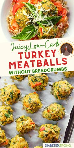 These easy & healthy homemade Turkey Meatballs Without Breadcrumbs are juicy little protein bombs that are packed with flavor! They're super easy to make and ready in just 40 minutes. You won't believe how flavorful and juicy these healthy turkey meatballs are! #meatballs #turkeyrecipes #healthydinnerrecipes #lowcarbrecipes #diabetesstrong #holidayrecipes #diabeticrecipes Easy Diabetic Meals, Healthy Low Carb Dinners, Healthy Recipes For Diabetics, Healthy Holiday Recipes, Lunch Recipes, Diabetic Friendly, Diabetic Recipes, Healthy Chicken Recipes, Turkey Recipes