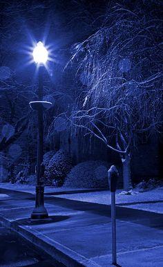 Winter Sidewalk Blues Photography by John Stephens