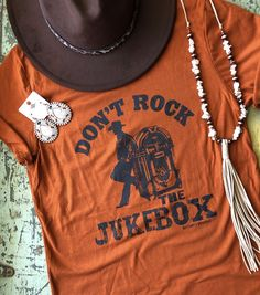 Don't Rock The Jukebox Tee – The Turquoise Leopard Country Style Outfits, Country Fashion, Western Outfits, Western Wear, Western Style, Country Girl Clothing, Cowgirl Style Outfits, Cowgirl Dresses, Outfits For Teens