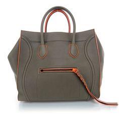 Fashionphile - CELINE Smooth Leather Large Phantom Luggage Grey w... ❤ liked on Polyvore