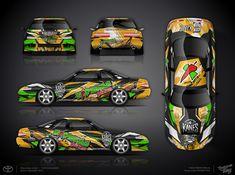 The approved wrap design for drift Toyota Soarer