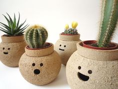 Hand-thrown pots that each have their own name (and personality). Hairy Babes Plant Pot by namnamceramics on Etsy, £30.00