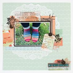 @CSMscrapbooker posted to Instagram: I love those socks!!!! Gorgeous layout designed by Tammy Hawes as featured in the Fall 2019 issue of Creative Scrapbooker Magazine! Subscribe Today! Pop on over to our profile and click on the smart.bio/csmscrapbooker for a direct link to start your subscription! #tammyhawes #falllayouts #fall2k19 #csmscrapbooker #creativescrapbookermagzine #creativescrapbooker #createeveryday #creative #scrapbookingideas #scrapbookingandcards #scrapbookingmagazine #vi Warm Sweaters, Scrapbook Layouts, Layout Design, Socks, Profile, Magazine, Pop, Create, Fall