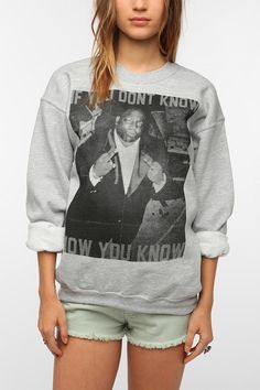 Urban Outfitters - Biggie If You Don't Know Pullover Sweatshirt