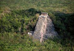 QUINTANA ROO: Nohoch-Mul (Castillo) pyramid / Cobá. And Lago Cobá / Lago Macanxoc, Quintana Roo state, México.