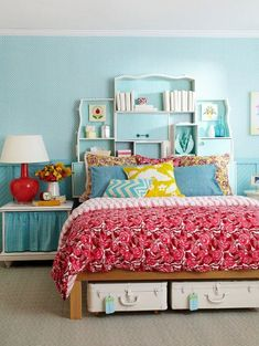 Simple and Colorful Design Ideas for Decorating Cottage Teenage Girls Bedrooms Design