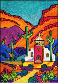 Church in Pastel by Jenny Willigrod