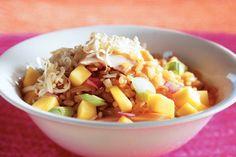 Kijk wat een lekker recept ik heb gevonden op Allerhande! Risottorijst met kip en mango