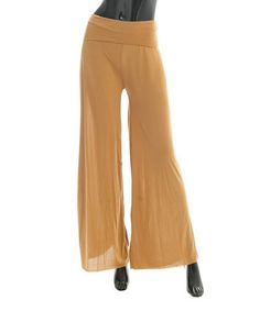 Look what I found on #zulily! Camel Palazzo Pants by SUE & KRIS #zulilyfinds