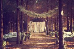 Rustic Chic Wedding Ceremony Decoration Ideas | For the ceremony use bails of hay for seating Have the ceremony in a ...