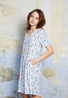 Robe Louise imprimé bleu esprit ethnique 3 4 Mode Printemps Été, Ethnique 67e6f22ff18