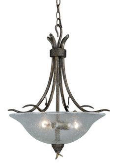 Monterey Patina Clear Inverted Bowl Pendant