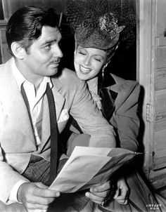 Clarke Gable & Lana Turner.....Uploaded By www.1stand2ndtimearound.etsy.com