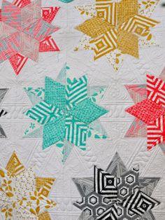 Minimalista Night Sky quilt by Kathleen /Jaybird Quilts' Night Sky pattern