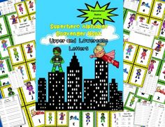 Super Hero Alphabet Scavenger Hunt: Upper and Lowercase letters. Differentiated recording sheets. Preschool, Pre-K, Kindergarten, special education, RTI, and homeschool. $