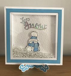 Snowman frame shaker Frame: elizabeth crafts HAPPY frame XL die Tonic Let it Snow Penny Black Snowy stamp Created by Justine Pearmain Christmas Cards, Christmas Decorations, Xmas, Tonic Cards, Snowman Cards, Elizabeth Craft, Shadow Box Frames, Frame Crafts, Penny Black