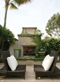 Outdoor Fireplace = Must have.