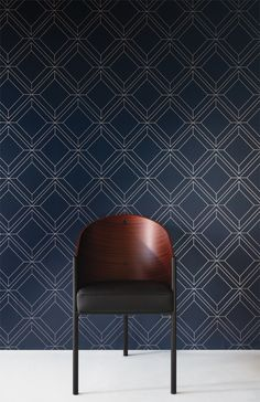 VENEZIA by Khrôma // Vico Indigo [VEN402] // Vico shows only the outline of the mosaic of marbles, which makes it contemporary and new. // #masureel #wallpaper #wallcovering #design #interior #interiordecor #decorating #decoration #interiorideas #interiorinspiration