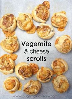 Delicious Vegemite and cheese scrolls recipe that you can easily cook with children. Perfect for lunch boxes and can be enjoyed this Australia Day Australian Party, Australian Food, Australian Recipes, Pavlova, Australia Day Celebrations, Lunch Box Bento, Aussie Food, Thinking Day, Cooking With Kids